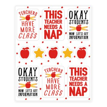 TEACHERS HAVE MORE CLASS STICKER SHEET STICKER