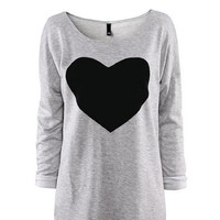 Changeshopping(TM) Women Love Heart Printed Long Sleeved Round Neck T-Shirt