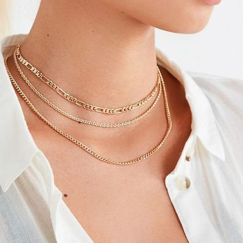 Simple Chain Necklace Set | Urban Outfitters