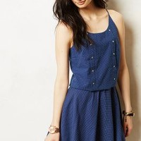 Dotted Buttonline Tank by Corey Lynn Calter Blue