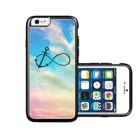RCGrafix Brand infinity-anchor-beach iPhone 6 Case - Fits NEW Apple iPhone 6