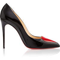 Christian Louboutin - Cora Heart 100 patent leather pumps