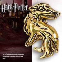 Harry Potter Hogwarts House Pin Pendant Hufflepuff By Noble Collection 24K Gold