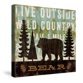 Simple Living Bear Canvas Wall Art
