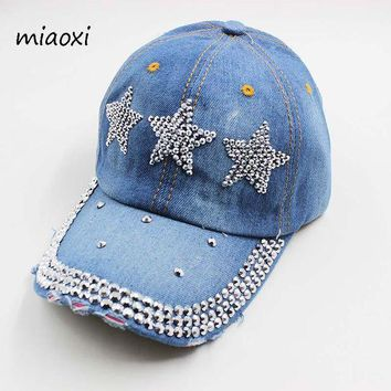 PEAPU3S miaoxi High Quality New Fashion Women Baseball Cap Denim Cotton Adjustable Summer Hat Sun Casual Adult Female Snapback Sale