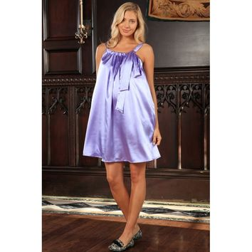Women's Maternity Dress - Lavender Halter Swing Summer Dress - Made in USA - Free Shipping