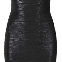 Elijah Liquid Bandage Dress - Black