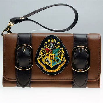 Harry Potter Hogwarts Castle Crest Envelope Satchel Fold Wallet Purse with Tag  DFT-1953