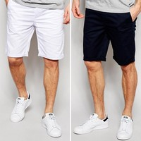 ASOS 2 Pack Chino Shorts SAVE at asos.com