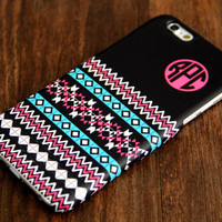 Black Ethnic Monogram iPhone 6 Plus 5S 5 5C 4 Protective Case 919