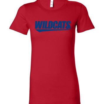 Official NCAA Venley University of Arizona Wildcats U of A Wilber Wildcat BEAR DOWN! Ladies Favorite Tee - 09ua-1