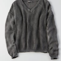 Don't Ask Why V-Neck Sweater, Black