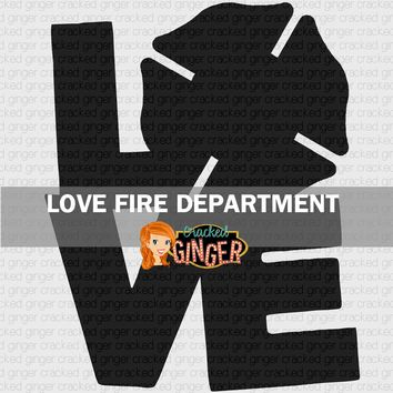 Love Fire Department Wood Cut Out Kit