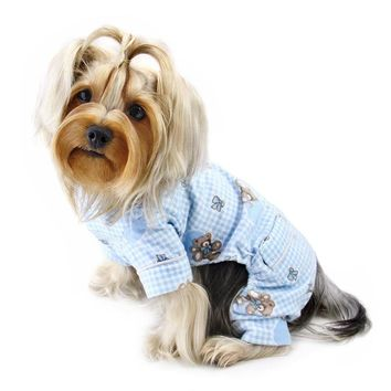 Adorable Teddy Bear Love Flannel PJ - Light Blue OR Pink