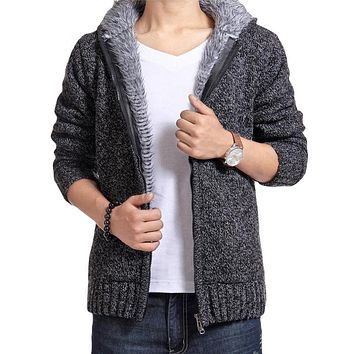 Sweater Men 2017 New Brand Winter Sweater coat knit cardigan jacket Casual Slim Men Warm Sweaters Jumpers Pull Homme