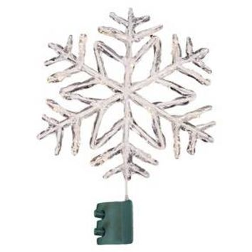 lit led acrylic snowflake tree topper from target. Black Bedroom Furniture Sets. Home Design Ideas
