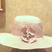 Cynthia Rowley Wide Brim Ribbon Summer Shapeable Sun Hat w/Embellished Bow Pink