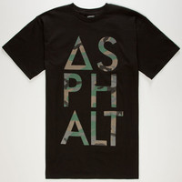 Asphalt Yacht Club Camo Knockout Mens T-Shirt Black  In Sizes