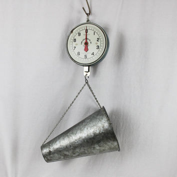 Vintage 1950s Penn 20 Pound Hanging Chicken Scale, Poultry Scale, Home Decor Scale
