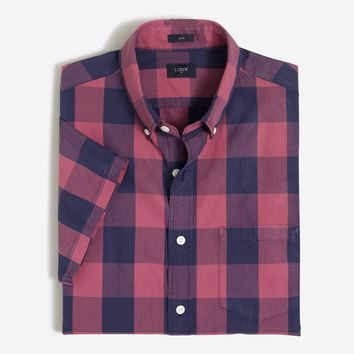 Slim short-sleeve Slim washed shirt : FactoryMen short-sleeve shirts | Factory