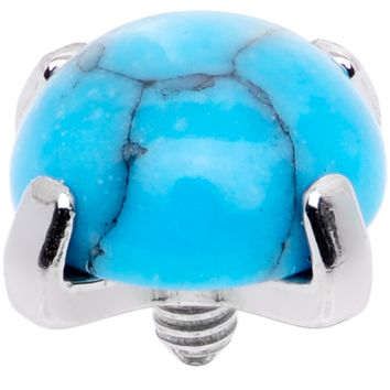 14 Gauge Natural Turquoise Externally Threaded Dermal Anchor Top
