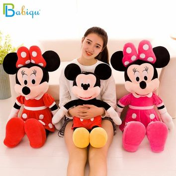 1PC 40cm Cute Mickey Mouse and Minnie Mouse Plush Toys Stuffed Cartoon Figure Dolls Kids Baby Christmas Birthday Gift