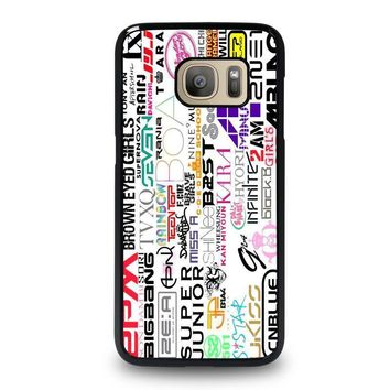 kpop all band samsung galaxy s7 case cover  number 1
