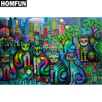 5D Diamond Painting Abstract Cats Kit