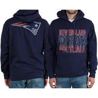 New England Patriots Backfield Pullover Hoodie – Navy Blue