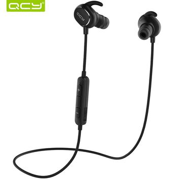 QCY IPX4-rated sweatproof headphones bluetooth 4.1 wireless sports earphones