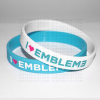 2 I Heart EMBLEM3 Bracelet Wristbands THIN