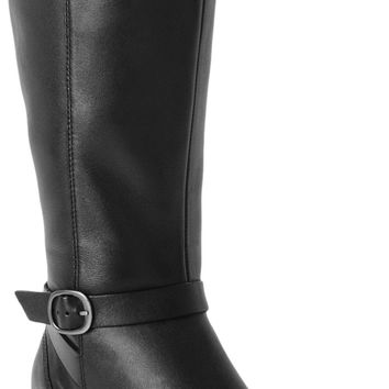 Clarks Knee High Leather Black Boots  Size: 8.5  Regular (M, B)