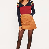 Urban Outfitters Colourblock Ribbed V-Neck Top - Urban Outfitters