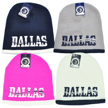 + DALLAS 8INCH SHORT BEANIE In White