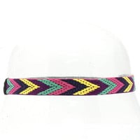 Chevron Stretch Head Band - Pink, Mint, and Yellow