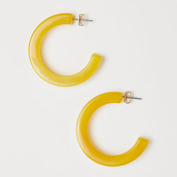 Hoop earrings - Light yellow - Ladies | H&M GB