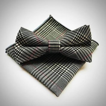 Various Color and Patterns of Men's Classic Style Bow-tie Sets