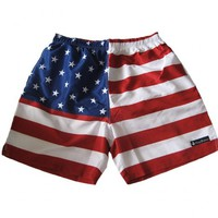 American Flag Black Label Swim Trunks by Rowdy Gentleman