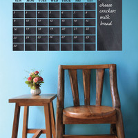 Chalkboard Calendar Decal