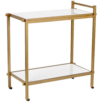 Chelsea House White Bar Cart