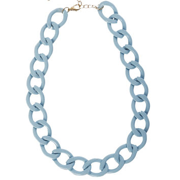 Thick Chain Necklace - Baby Blue