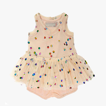 Stella McCartney Kids Bell Baby Girl Polka Dot Tulle Dress - Cream - only sz 24M left