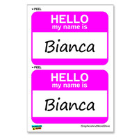 Bianca Hello My Name Is - Sheet of 2 Stickers