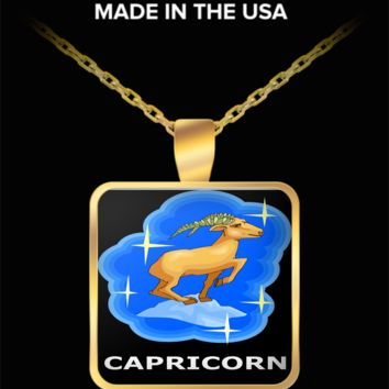 Zodiac Capricorn Pendant Necklace