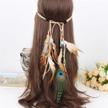 Native American Indian Artificial Feather Headband