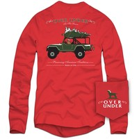 'Tis the Season Long Sleeve Tee in Red by Over Under Clothing