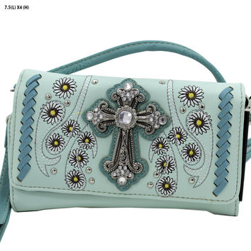 + WESTERN WALLET HIPSTER CROSS BODY STYLE In Mint