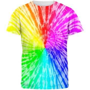 Rainbow Pride LGBT Tie Dye All Over Adult T-Shirt