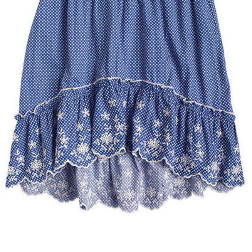 High-Low Embroidered Skirt