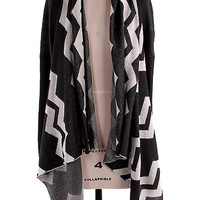 Chevron Cardigan Sweater